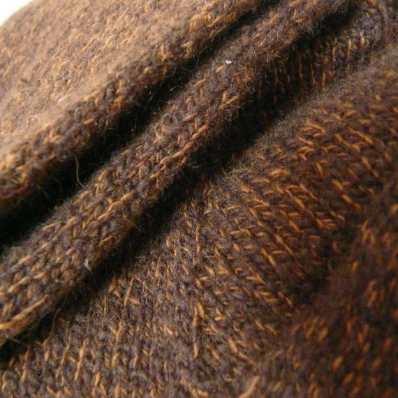 Simple Luxury Cashmere Socks - Chocolate and Gold - Large