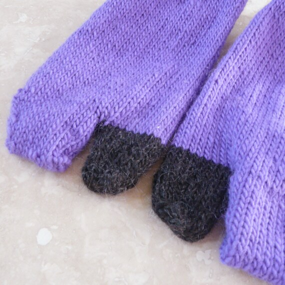 Black and Purple Tabi Socks - Medium