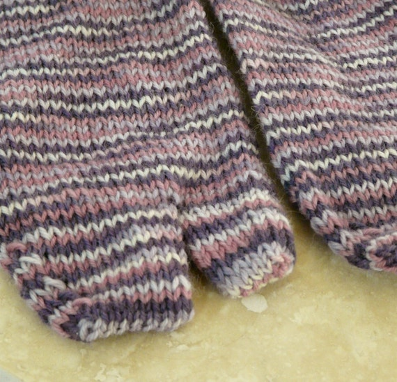 Purple Stripe Tabi Socks - Large
