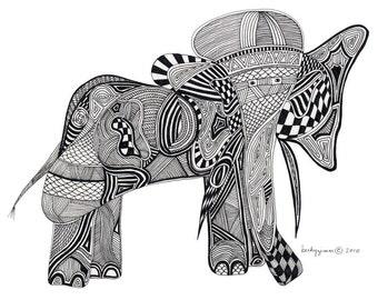 Elephant 5x7 Card