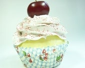 Red Cherry Fake Cupcake