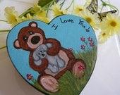 Bear and Bunny Heart Magnet