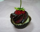 Mini Faux Chocolate Frosting CUPCAKE