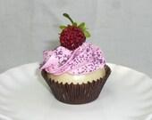 Mini Pink Raspberry Cupcake MAGNET