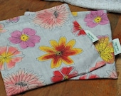 Flower Toss----Organic Linen Sandwich Bag
