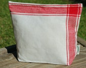 Large Vintage Linen Storage Bag