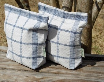 Large Vintage Linen Tea Towel  Lunch-Sandwich-Storage -Bag Lined