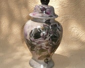 Black and Ruby Rose Ginger Jar or Vase