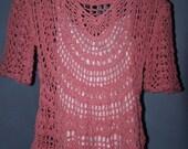 Japanese Bamboo Drop Sleeve Crochet Shirt