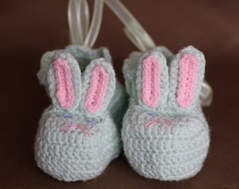 Bunny Baby Booties Made to Order 0-12 months