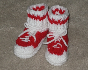 Baby Bootie Tennis Shoes Any 0-12 months made to order