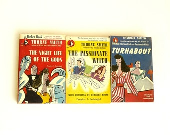 Vintage Pulp Fiction Paperback Book Set Mature Fantasy Comedy Stories