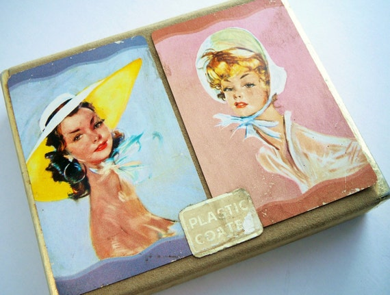Vintage Pretty Ladies Guild Playing Card Set-8502