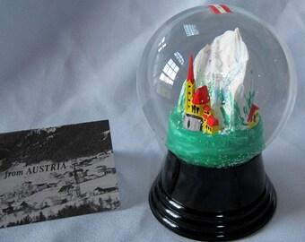 Vintage Austrian Perzy Snowglobe Alpine Steeple