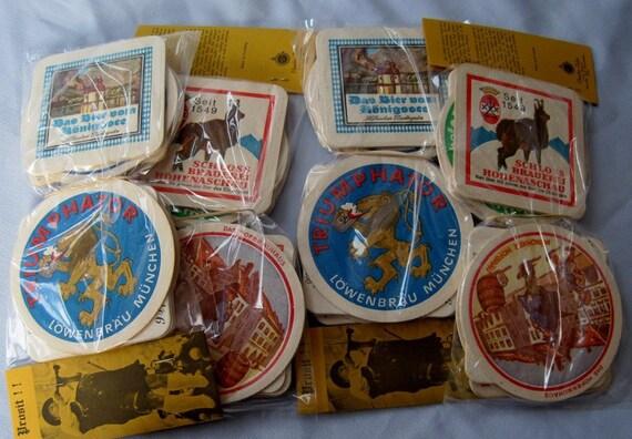 Vintage German Beer Coasters  Brewery Lowenbrau Lot 48