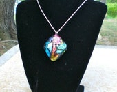 Dichroic Glass Pendent - Cabochon 4