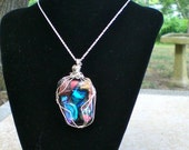 Dichroic Glass Pendent - Cabochon 1