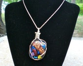 Dichroic Glass Pendent - Cabochon 2