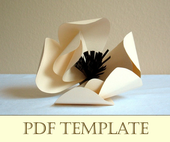 Magnolia Paper Flower Printable Pdf Instructions And