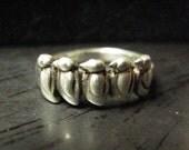 RESERVED For Jo - Vintage 925 Sterling Silver Marching Penguins Ring - SZ 7-1/2