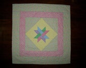 Quited Star Baby Quilt