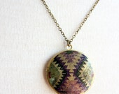 Plum Weaver Pendant Necklace