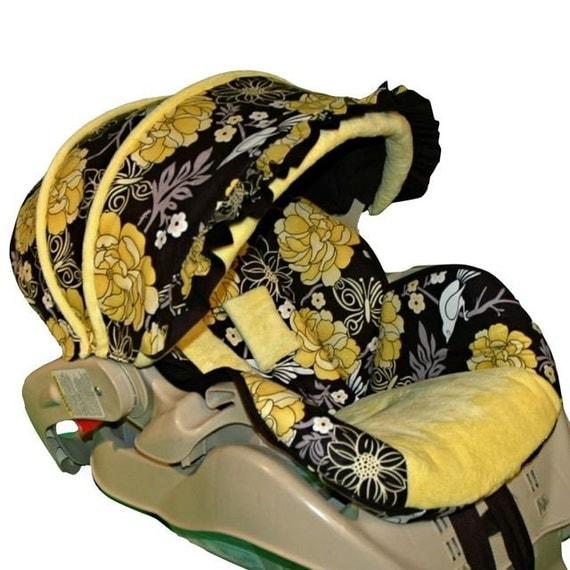 Custom Infant Car Seat Cover Peonies Garden Custom Baby Boy Car Seat Covers