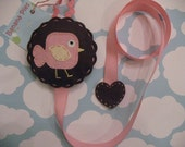 Funky Birdie Hair Clip and Bow Holder