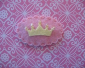 Pink Princess Crown Clippie