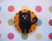 Black Cat Hair Clip