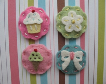 Set of Four Itty Bitty Hair Clips
