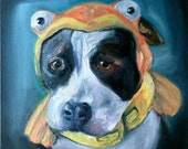 Goldfish Dog - Original Oil painting