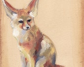 Fox Sitting - Original painting