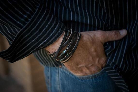 The Raven - Mens Bracelet  or Womens Bracelet (New Cuff Design)