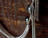 SALE - Tourmalated Quartz Chunky Tassel Necklace