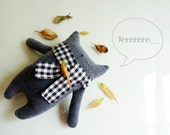 Mr.Black with scarf - Etsy Project Embrace