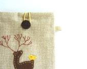 Kindle Case, Kindle Sleeve, Nook Sleeve - Dear Deer and Bird
