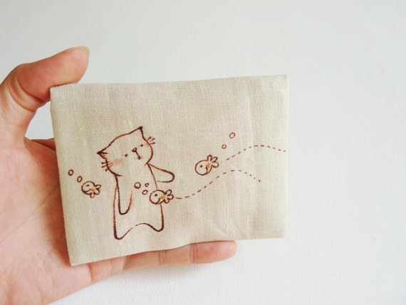 Cat Card case - Hello Cute Fishes
