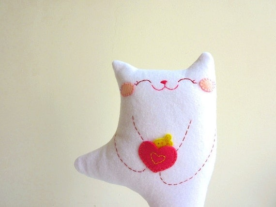 Cat Plush - Kitty Dancing - EtsyProjectEmbrace
