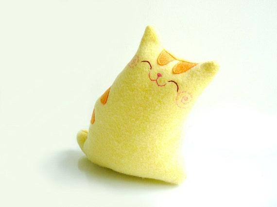Cat Plush - Kitty Yellow - Etsy Project Embrace