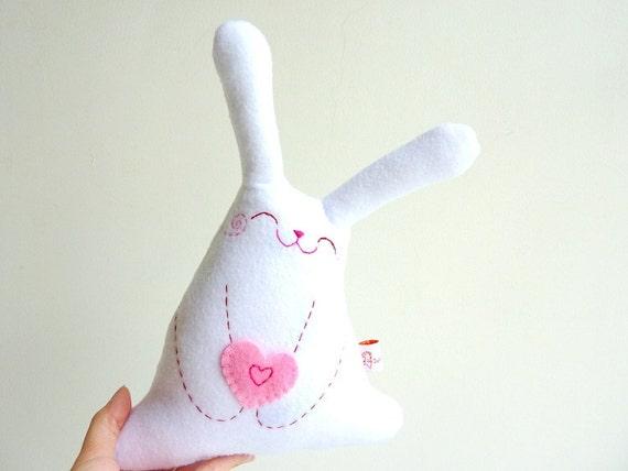 Rabbit Plush, Bunny Plush, Stuffed Animal toy - Little Roro with love - EtsyProjectEmbrace