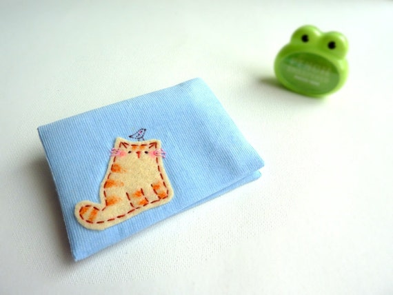 Cat Card Case, ID Card Case, Business Card Case - Sweet Kitty
