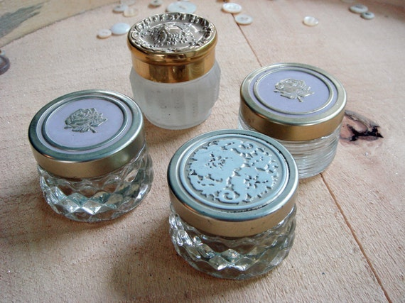 4 vintage Avon cream jars - perfect for the altered artist - no 169