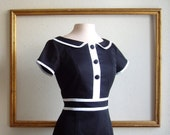 MOD dresses black and white color block custom made - KATE style