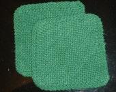 Durable Dishcloths in Emerald Green