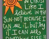 I Believe C.S. Lewis Quote- Art Canvas