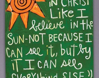 I Believe C.S. Lewis Painting on Canvas