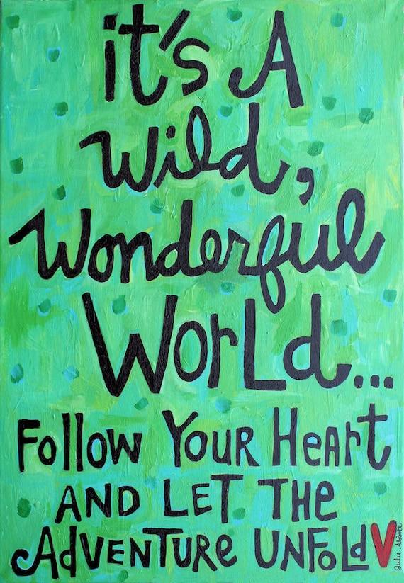 Wild Wonderful World- Art Print