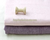Solid Fabric, Light Pink-Japanese Dyed Cotton Linen Blended Fabric(1/2 Yard)