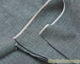Japanese Dyed Cotton Fabric-Simple Solid Basic Natural Black (1/2 Yard)